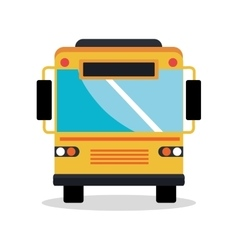 bus vehicle silhouette isolated icon vector image