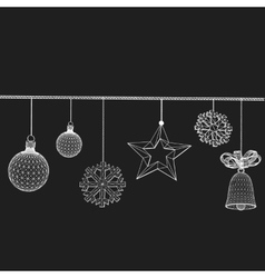 Christmas decoration Polygon vector image