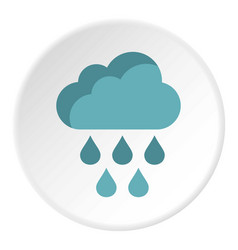 clouds and rain icon flat style vector image