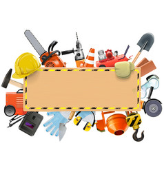 Construction Board with Tools vector image