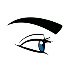 Cute female eye look vision design vector