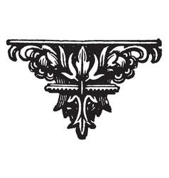 Decorative footer is a dark flower design vintage vector