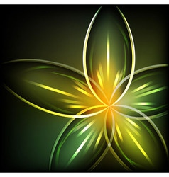 Green light flower background vector image vector image