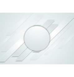 Grey hi-tech abstract background with circle vector