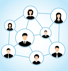 Group of business people social relationship - vector