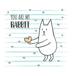 grunge rabbit2 vector image vector image