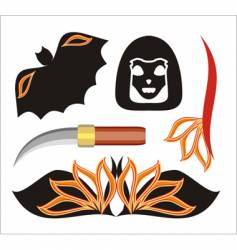 Halloween objects vector image vector image