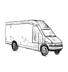 Hand drawn commercial transport vector