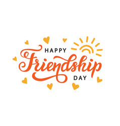 Happy friendship day cute poster vector