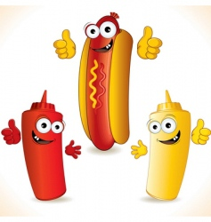 hotdogs vector image