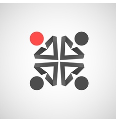 icons of man Creative simple design vector image