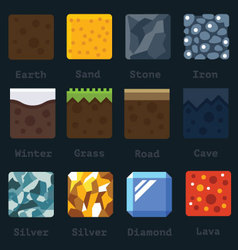 Materials and textures for the game vector