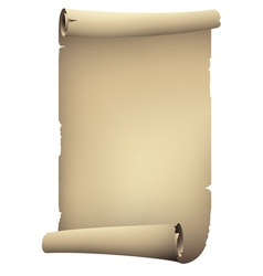 Old paper rolled banner drawing vector