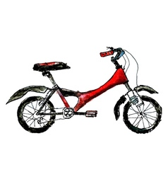 Painted bicycle2 vector