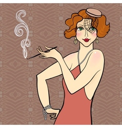 Redhead flapper girl vector image