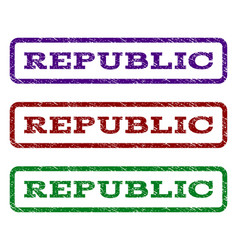 republic watermark stamp vector image