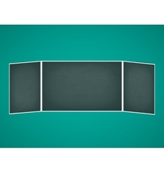 School chalkboard folding vector
