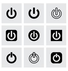 shut down icon set vector image