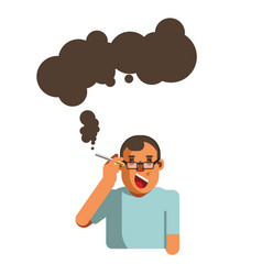 Smoking cigarette health disease risk brain ilness vector