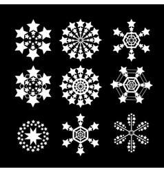Snowflakes set white snow flake icon set vector image