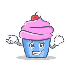 Successful cupcake character cartoon style vector