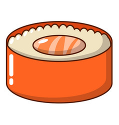 sushi fish icon cartoon style vector image vector image