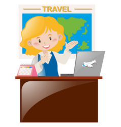 Travel agency working at the office vector