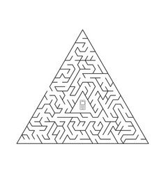 triangular labyrinth vector image