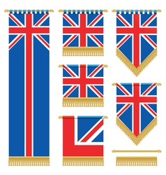 uk wall hangings vector image vector image