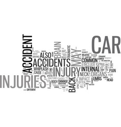 Whip it good car accidents and your spine text vector