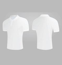 white polo t shirt vector image vector image