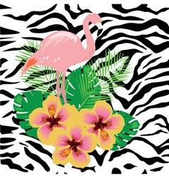zebra flam pink vector image vector image