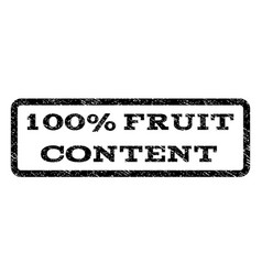 100 percent fruit content watermark stamp vector
