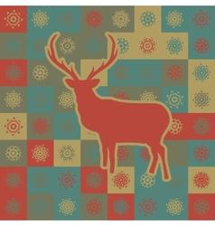 Christmas reindeer pattern background vector image