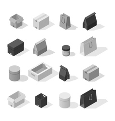 Different box icons vector