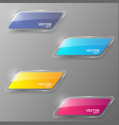 Glass banner set vector