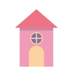 Cute castle isolated icon vector