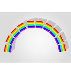 rainbow consisting of childrens blocks vector image