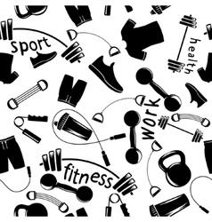 Sport equipment set vector
