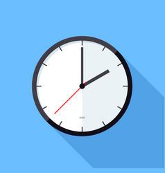 clock icon flat design icon vector image