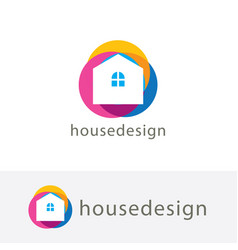 Colorful house vector