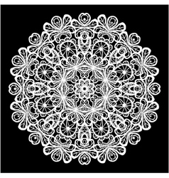 lace round 4 380 vector image