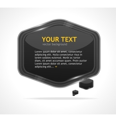 Abstract speech bubble black vector image