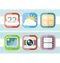 Mobile phone applications black icons set vector