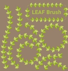 Leaf brushes vector