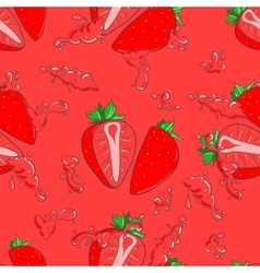 Seamless pattern with strawberry vector