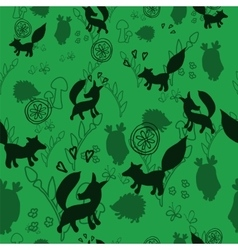 Animal pattern with wild animals vector