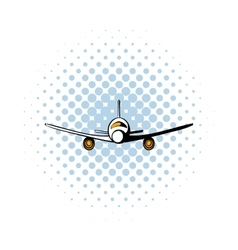 Airplane comics icon vector