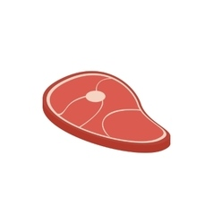 Meat icon isometric 3d style vector image