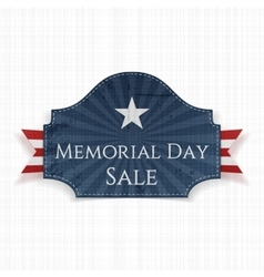 Memorial day sale patriotic poster and ribbon vector